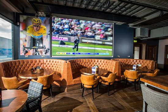 Here is are popular booths and our 9 screen TV wall