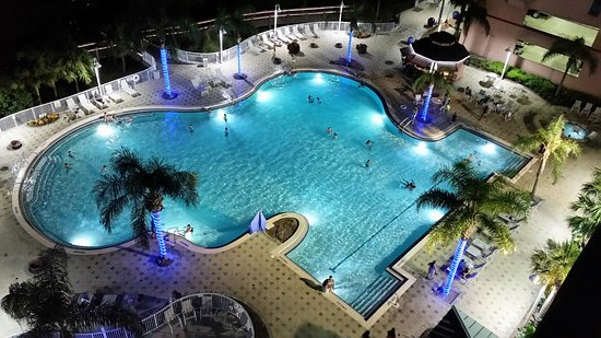 Blue Heron Beach Resort Night Time Fun At Pool