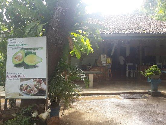 Jina's Vegetarian and Vegan Restaurant: in the garden