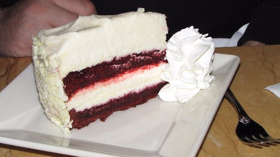 Red Velvet Cheesecake Picture Of The Cheesecake Factory Boston
