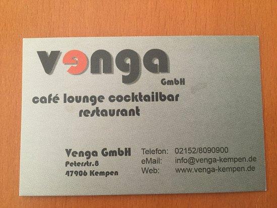 Visitenkarte Picture Of Venga Kempen Tripadvisor