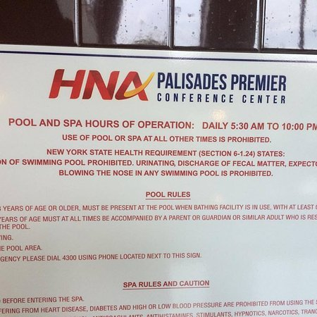 Palisades, estado de Nueva York: Against the law to poop in a pool? Did they have to debate that?