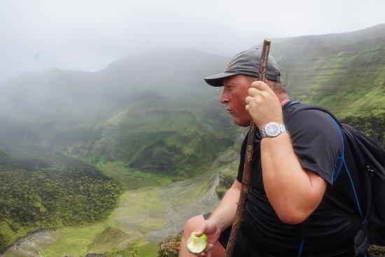 La Soufriere Cross Country Trail: Rewarding view.
