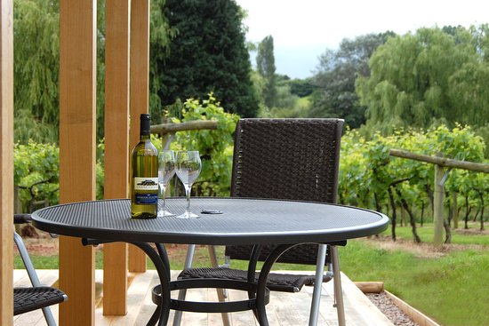 Newent, UK: Terrace from a hotel room
