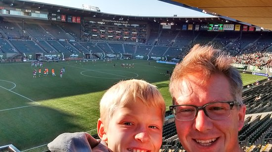 Portland Timbers: An hour before the game, exploring the stadium.