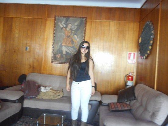 Hostal Huaynapata: Recepción del hotel.