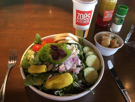 Zoes Kitchen Chicken Salad Sandwich chicken salad sandwich and salad - picture of zoes kitchen