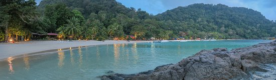 Pulau Tenggol, Malaysia: a panorama of the whole stretch of beach