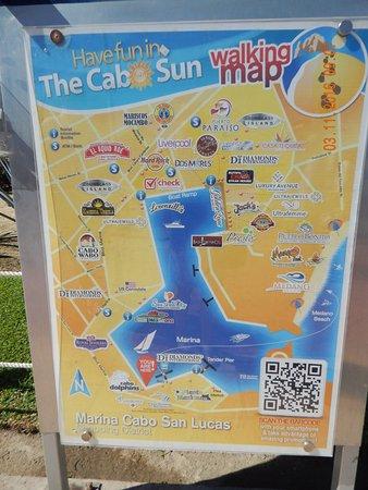 Marina map. - Picture of Sandos Finisterra Los Cabos, Cabo ... on map of newport marina, map of puerto vallarta marina, map of key largo marina, cabo san lucas marina, map of delta marina,