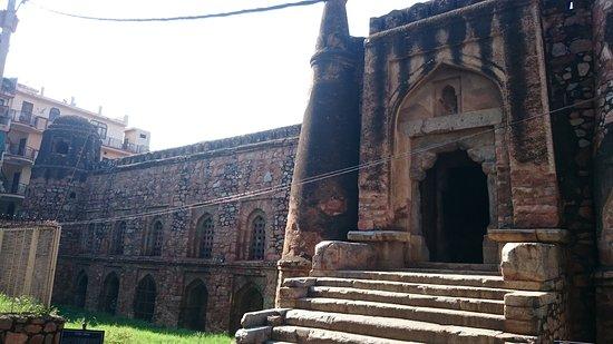 Khirki Masjid main entrance