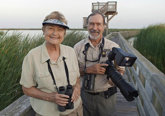 Port Aransas, TX: Locals, Joan & Scott Holt, Retired UTMSI Scientists enjoy all the Port A birding locations