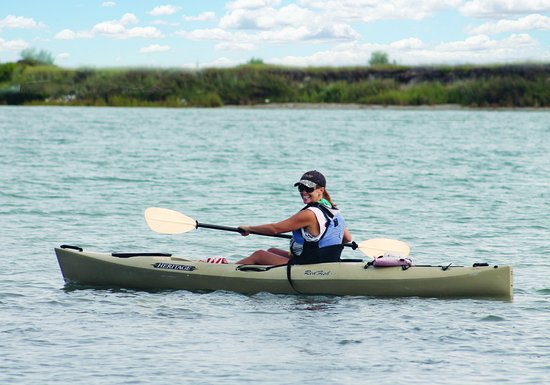 One of the water sports in Port Aransas, Texas, is kayaking