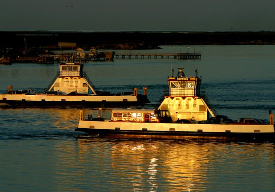 Port Aransas, TX: The ferry at dawn in Port Aranas, Texas