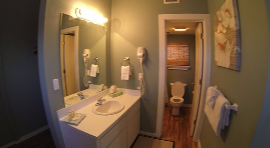 Balinese Wellness Spa and Yoga Retreat: Same bathroom in all five units. Shower/tub adjacent to toilet