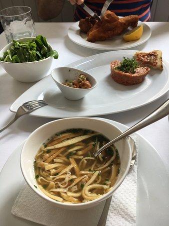 Gasthaus Woracziczky: Beef Broth, Beef Tartar and Crispy Chicken