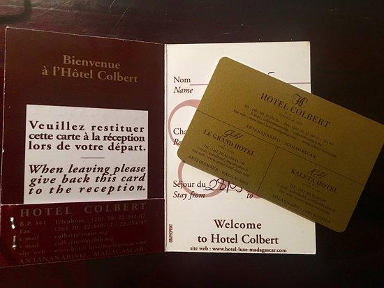 Hotel Colbert: カードキー
