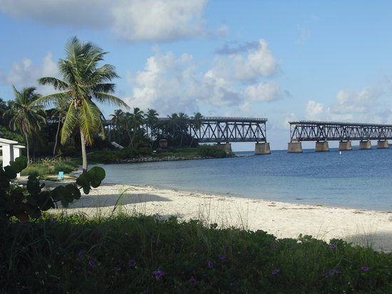 Bahia Honda State Park And Beach View With The Old Bridge