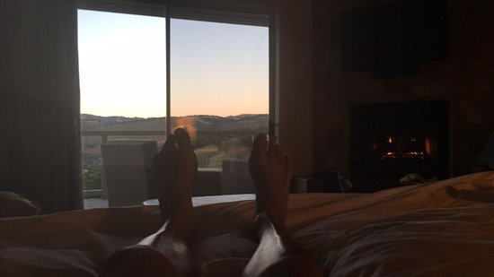 Carmel Valley Ranch : Sunset view from our room.