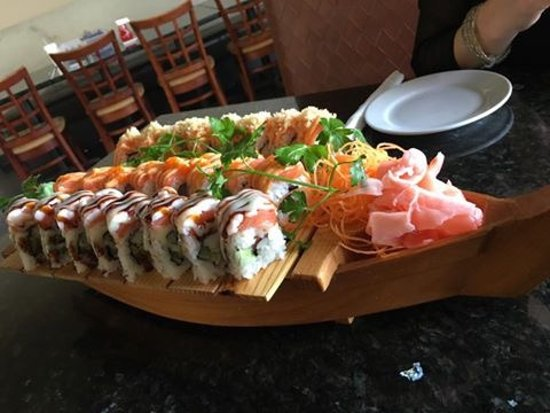 Kyle, TX: A boat of sushi