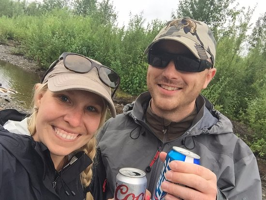Skwentna, AK: Caught our limit, time for a beverage.