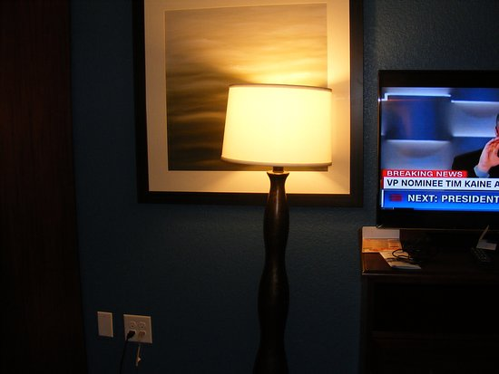 Big Spring, TX : Lamp in front of picture