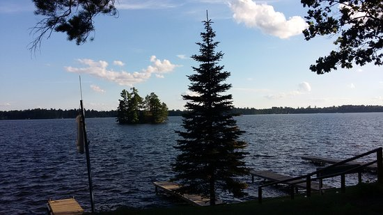 Manitowish Waters, WI: The view from the lakeside patio