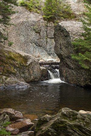 Pittsburg, NH: Pool at base of Garfield Falls