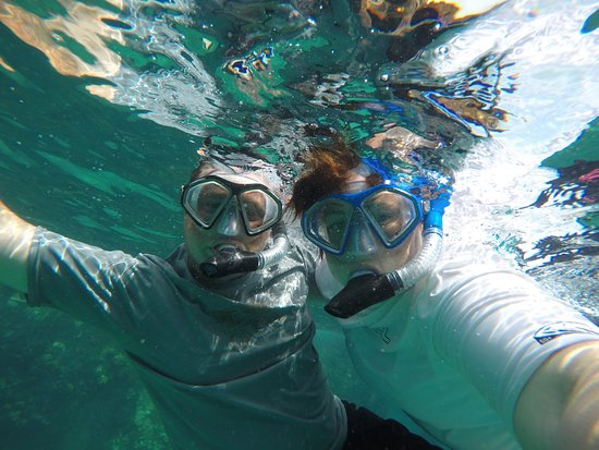 Bimini: Under water selfie with the GoPro