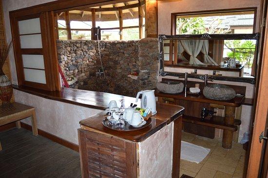 Green Lodge: Deux lavabos individuels et maxi-douche !