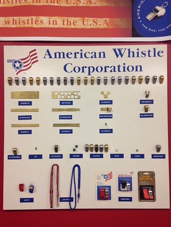 American Whistle Corp.: Awesome tour guide and tour of the factory!