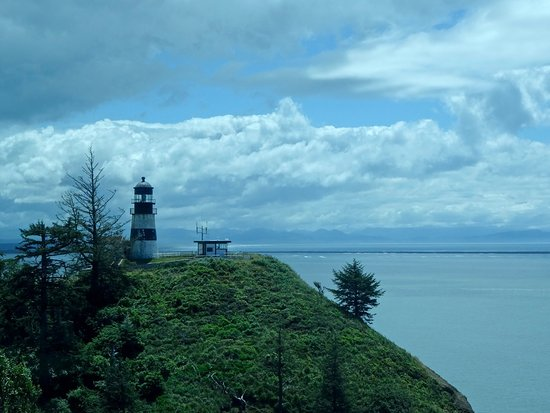Ilwaco, WA: Cape Disappointment Light Looking Toward Columbia River Mouth