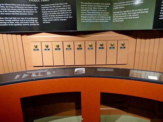 "Ilwaco, Etat de Washington : ""What Happened to the Members of the Corps of Discovery"" Exhibit"
