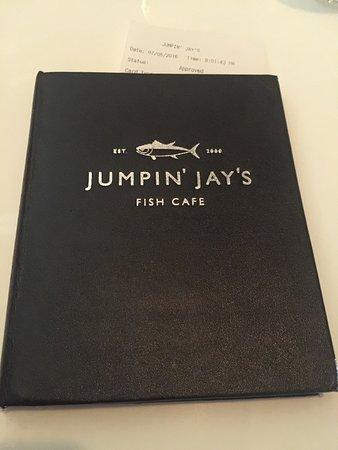 Jumpin' Jay's Fish Cafe: Fancy menu