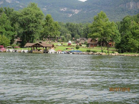 Lake Lure, NC: Private Jetty
