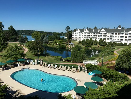 One of the pools, the pond, and Elkhart Lake.