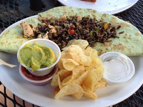 Chef's Hat Cafe: Black Bean Quesadilla