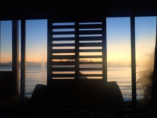 Vanua Levu, Fiji: The sunrise view from our bed!