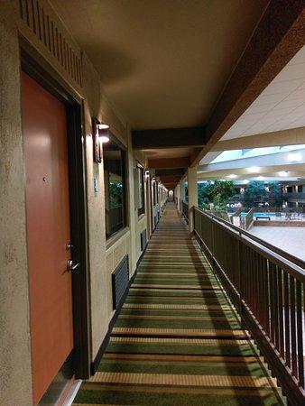 BEST WESTERN Plus Raton Hotel: Second floor balcony into atrium. One room door opens to atrium.