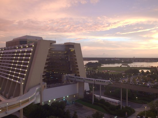 Bay Lake Tower at Disney's Contemporary Resort: The Contemporary from the balconny
