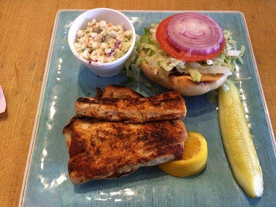 Indialantic, FL: Delicious talapia sandwich