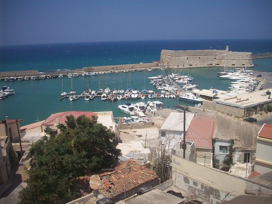 Heraklion Prefecture, Greece: the view of the roof garden/restaurant of the Lato boutique hotel