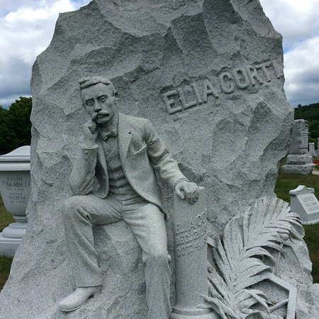 Barre, VT: Memorial to Elia Corti, a master stone carver himself,shot to death in 1903