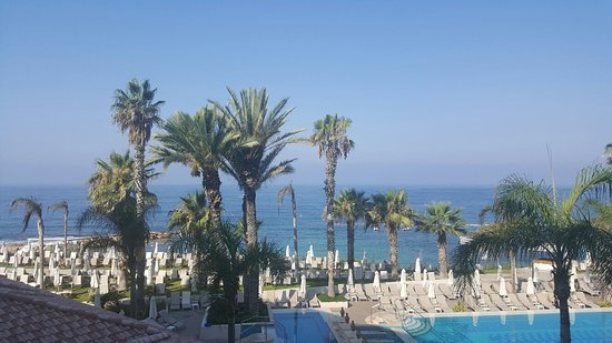 Alexander The Great Beach Hotel: Lovely views from window and from outside at night