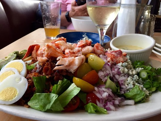 Kittery, ME: Lobster Cobb Salad  View from our table