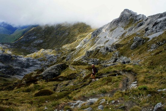 Arthur's Pass National Park, New Zealand: The clouds are almost touching us.