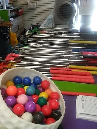 Medina, OH: Pick you favorite color ball for mini golf.