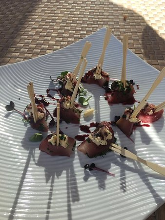 Bantry Bay, Zuid-Afrika: Canapés prepared by Private Chef