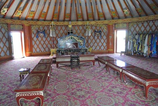 Baotou, China: Inside Genghis Khan's 'Supreme Command' gold yurt