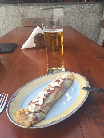 Belogradchik, Bulgaristan: Crepe for dessert