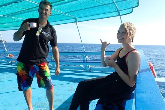بانز دايفينج ريزورت: at the boat